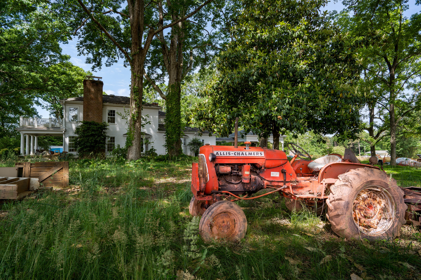 Allis-Chalmers tractor found on the property of 13828 Beatties Ford Road.